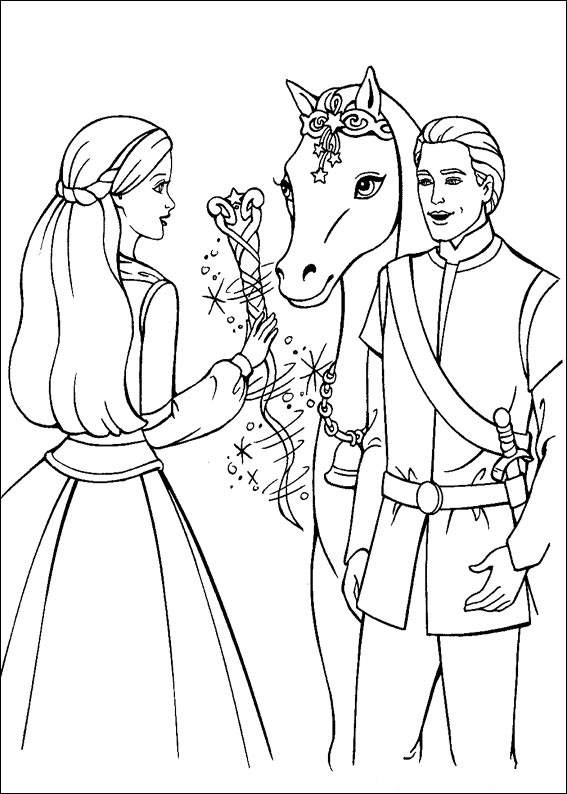 Barbie and The Magic Pegasus Free Coloring Print 1