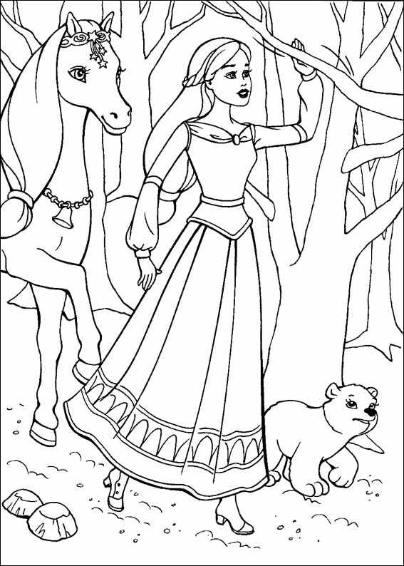 Barbie and The Magic Pegasus Free Coloring Print 11