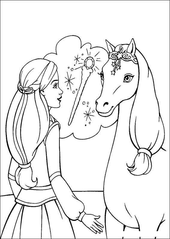 Barbie and The Magic Pegasus Free Coloring Print 12