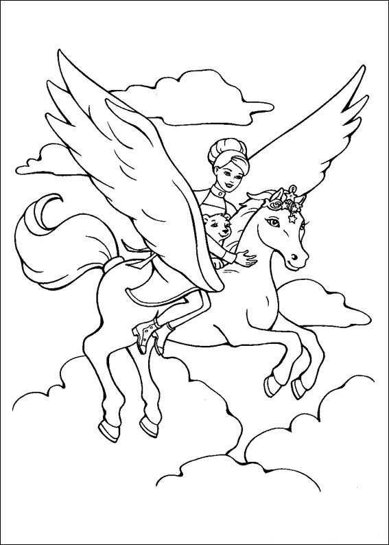 Barbie and The Magic Pegasus Free Coloring Print 14