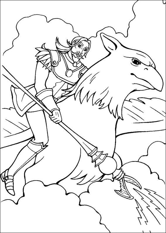 Barbie and The Magic Pegasus Free Coloring Print 2