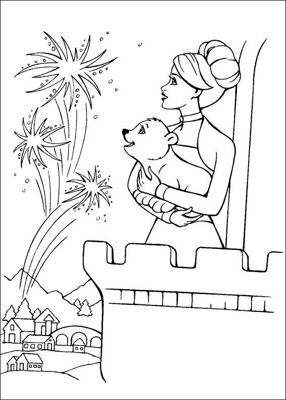 Barbie and The Magic Pegasus Free Coloring Print 3