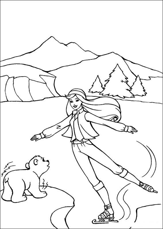 Barbie and The Magic Pegasus Free Coloring Print 7
