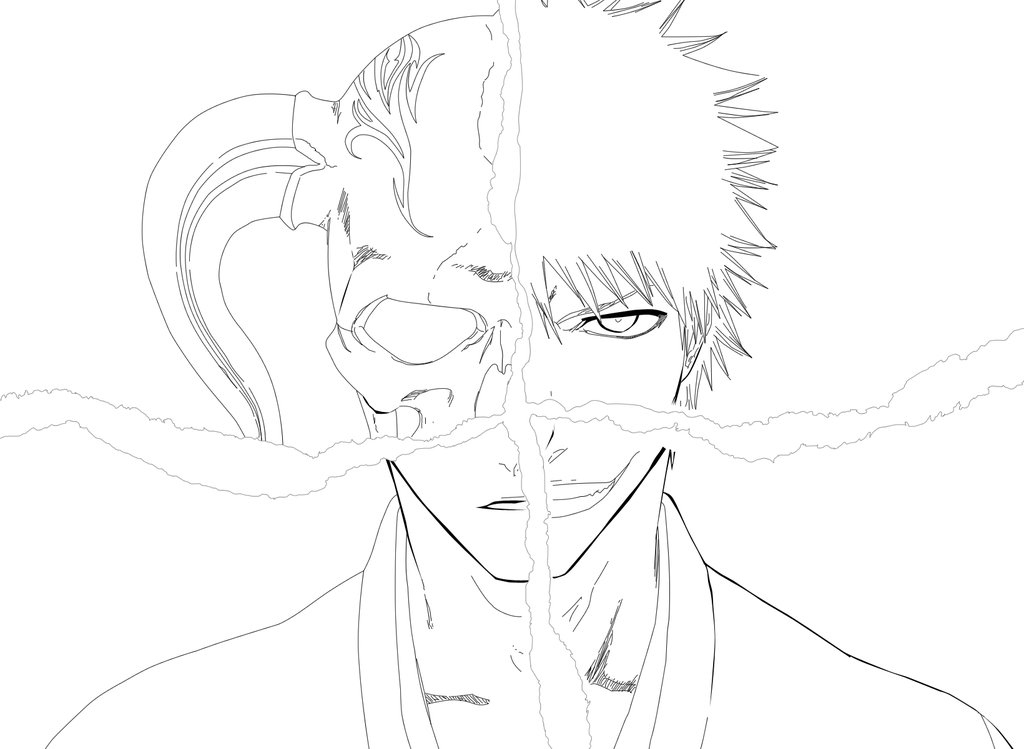 Bleach Free Coloring Print 1