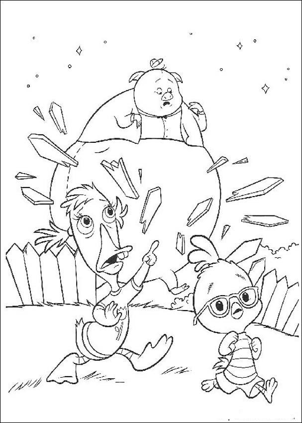 Chicken Little Free Coloring Print 1