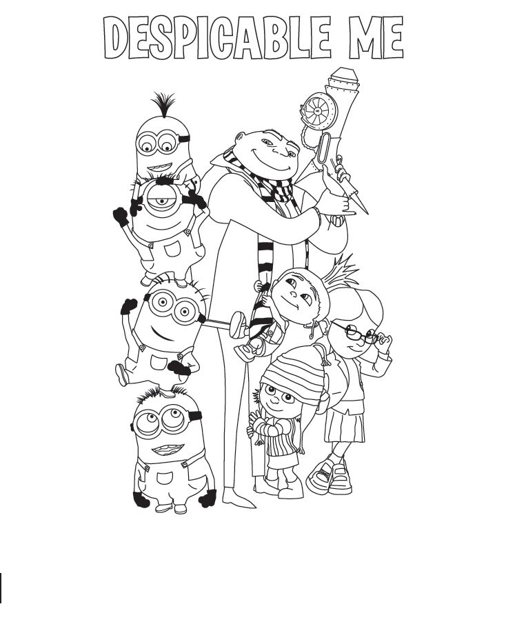 Despicable Me Free Coloring Print 6