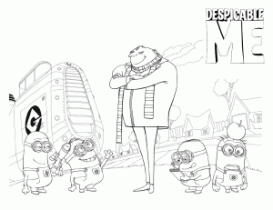 Despicable Me Free Coloring Print 7