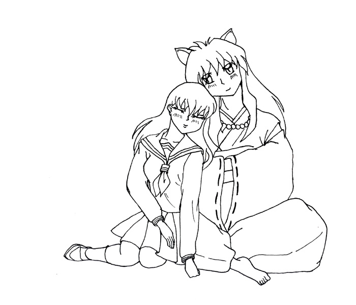 Inuyasha The Final Act Free Coloring Print 6