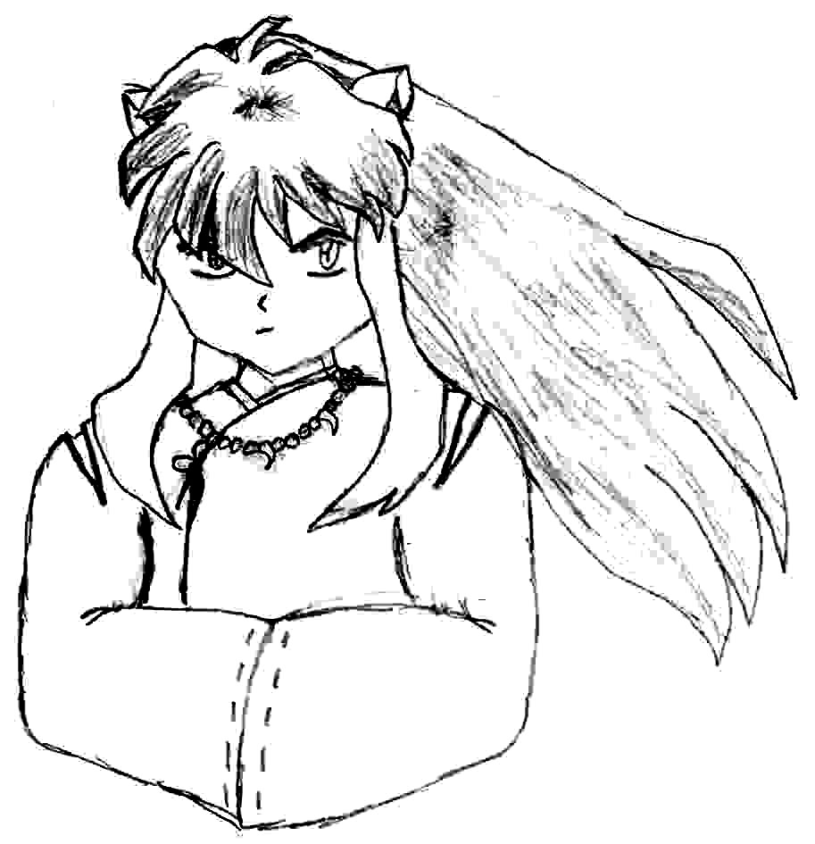 Inuyasha The Final Act Free Coloring Print 7