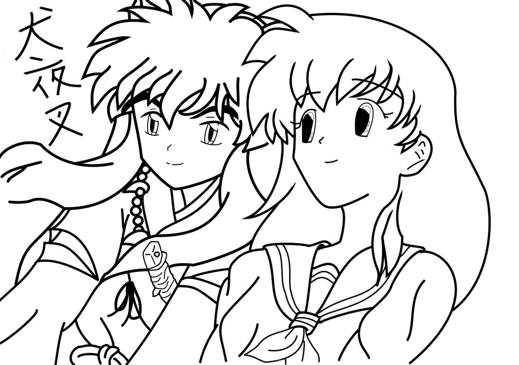 Inuyasha The Final Act Free Coloring Print 8