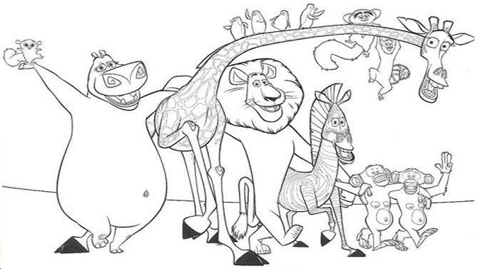 Madagascar Coloring Pages 12