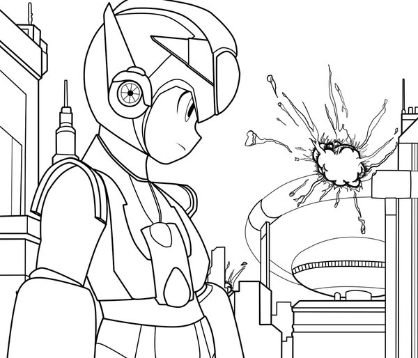 Megaman ZX Free Coloring Print 2