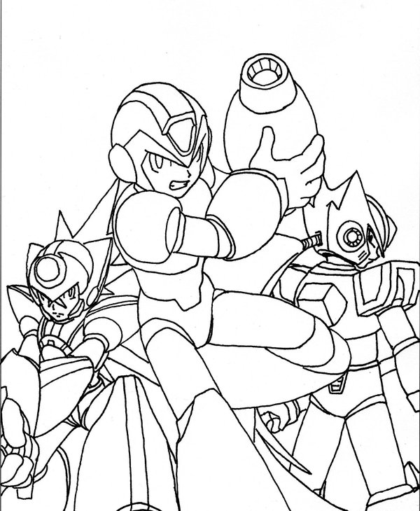 Megaman ZX Free Coloring Print 3