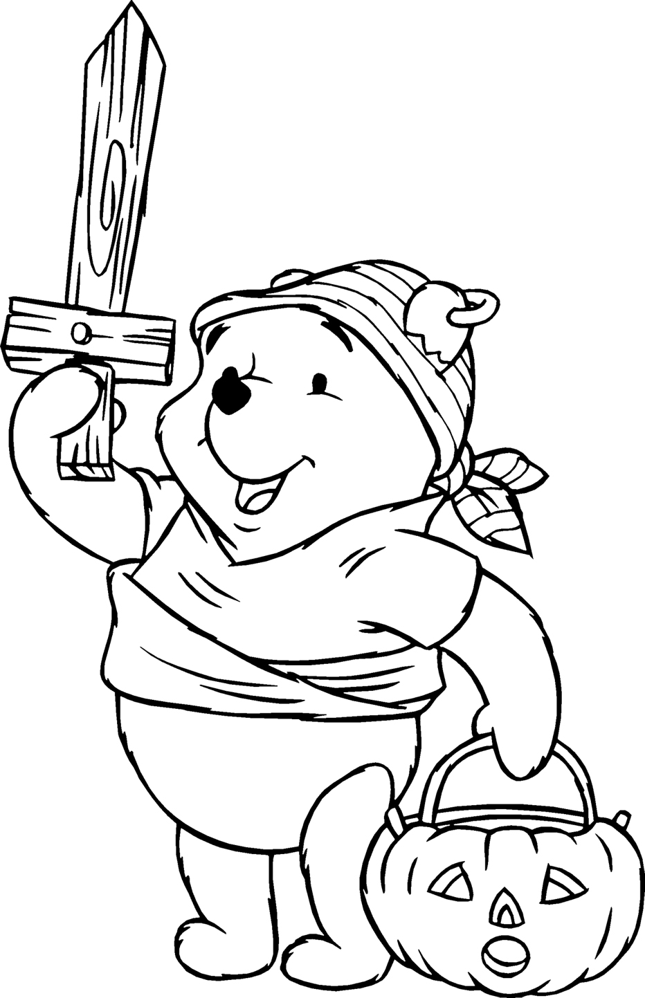 Pooh Bear Coloring Pages 8