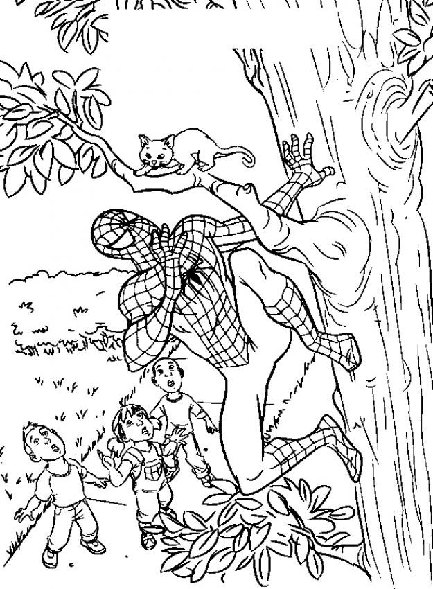 Spiderman Coloring Pages 7